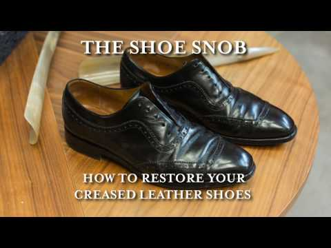 The Shoe Snob - How To Restore Your Creased Leather Shoes
