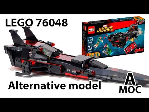 [TUTORIAL] LEGO 76048 Iron Scull space ship Alternative build instruction [A MOC]