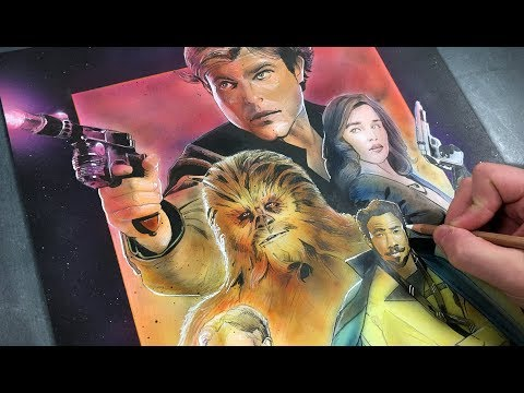 Painting a 'Solo: A Star Wars Story' Poster - Timelapse