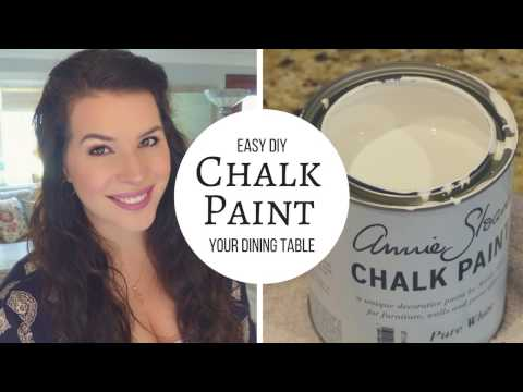DIY Chalk Paint and Distress A Table Tutorial