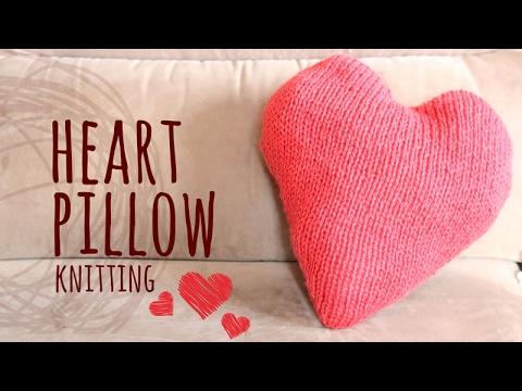 Tutorial Knitting Pillow Heart | Valentine's Day