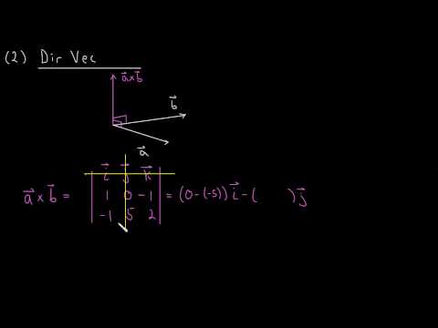 Finding the Equation of a Line in 3 dimensions (Example)