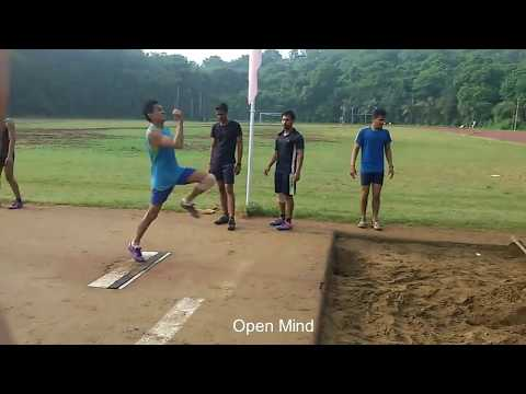 Long Jump Traing In College camp