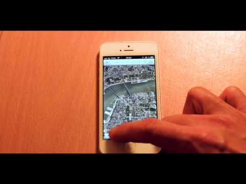iPhone 5 - FLY OVER 3D STREET VIEW!! - IOS 6 Feature in Maps App (Deutsch)