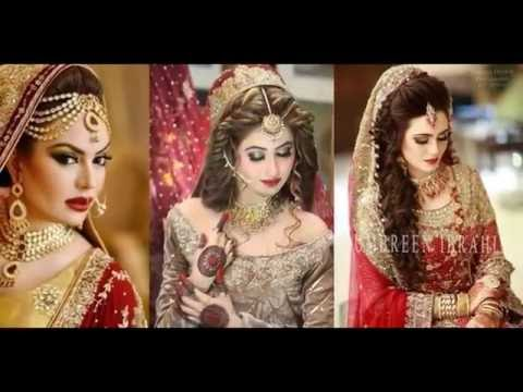 Modern Looks Of Bridal Makeup And Dresses For Eid ul adha 2016