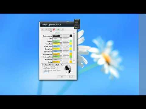 Superb PC and System Windows 7 Widget - System Uptime Full Plus 7.2