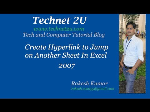 Create Hyperlink to Jumt on Another Sheet In Excel 2007