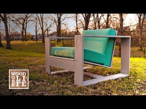 DIY Modern Outdoor Chair - w/ Hidden Bottle Opener & Drink Holder | Builds