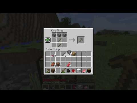 How to make a Stone Pickaxe - Minecraft