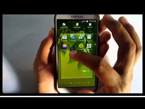 Samsung Galaxy S4 : How to organize apps (Android Kitkat)
