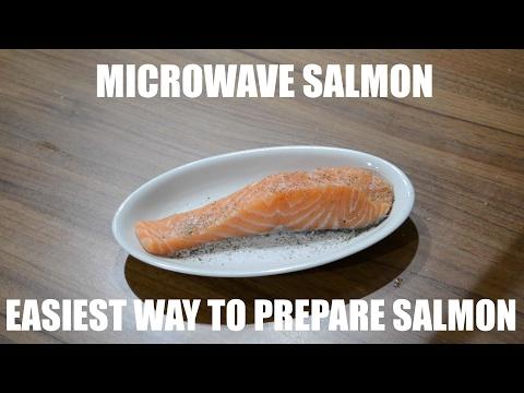 MICROWAVE SALMON - EASIEST WAY TO PREPARE SALMON