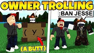 TROLLING THE OWNER (Bad Idea...) Build a Boat