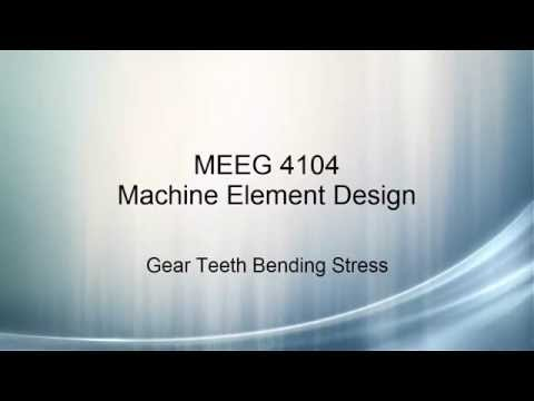 Machine Element Design V21 - Bending Stress in Gears