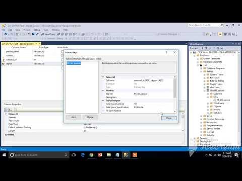 Creating Composite Key in SQL Server (Hindi / Urdu)