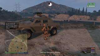 Playing GTA 5 Motar Wars , Trolling!