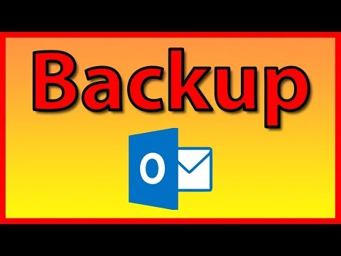 How to backup your Email in Outlook 2016 - Tutorial