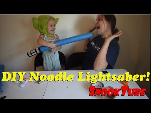 DIY Noodle Lightsaber!
