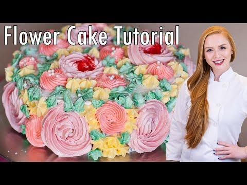 Flower Garden Decorating Tutorial - Meringue Butter Cream Recipe