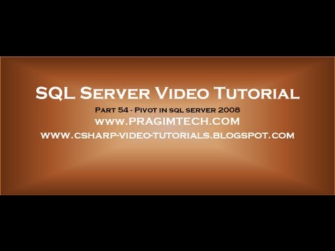 Pivot in sql server 2008   Part 54