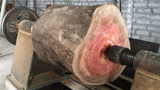 Amazing Techniques Extreme Fast Woodworking Creative Smart - Work Wooden Lathe Art