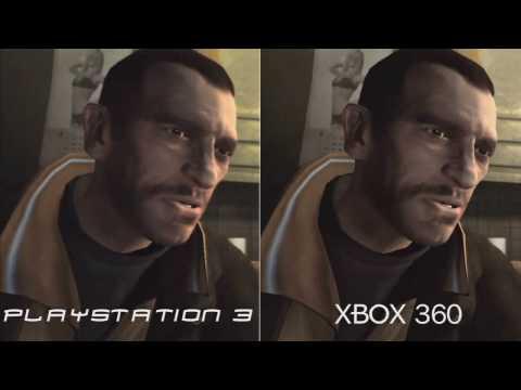 GTA IV Xbox 360 vs PS3 Comparison in HD 720p