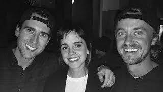 Emma Watson, Tom Felton & Matthew Lewis Have EPIC Harry Potter Reunion