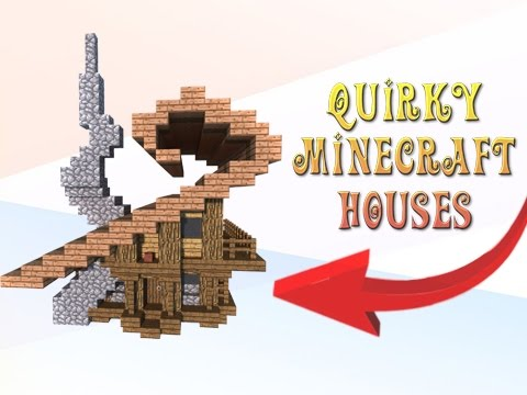 Minecraft: How To Build Quirky Looking Houses!
