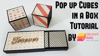 Pop up Cubes in a box Tutorial by Srushti Patil   Simple method   Valentine Special