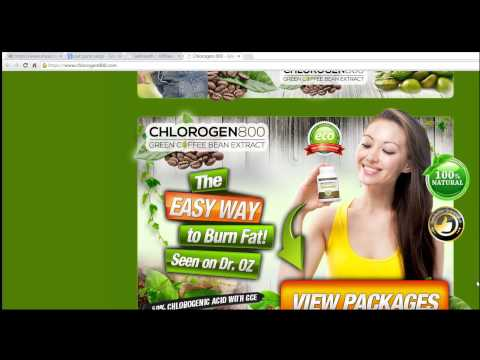 Chlorogen 800 Green Coffee Bean Extract  is an EASY Way to Burn Fat