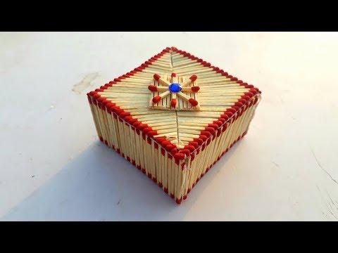 DIY matchstick valentine day gift box making | reuse old matchstick | jewelry box from matchstick.
