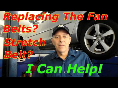 How to replace the drive belts on a 2005 Mazda 3