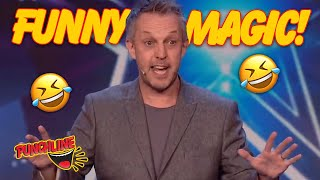 5 MAGICIANS GUARANTEED TO MAKE YOU LAUGH! Funny Magic Auditions On Got Talent