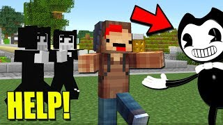 100% IMPOSSIBLE TO HIDE FROM BENDY AND THE INK MACHINE IN MINECRAFT TROLL + ROLEPLAY