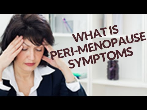 Peri Menopause Symptoms - How to Reduce or Eliminate
