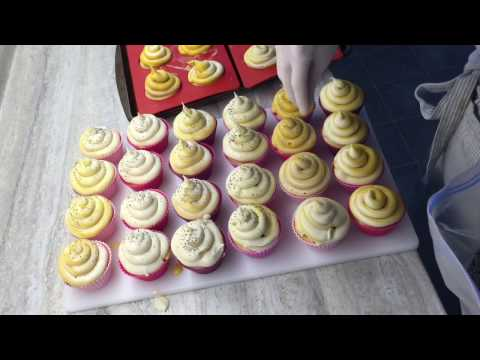 Making Bumble Bee Cold Process Soap Cupcakes