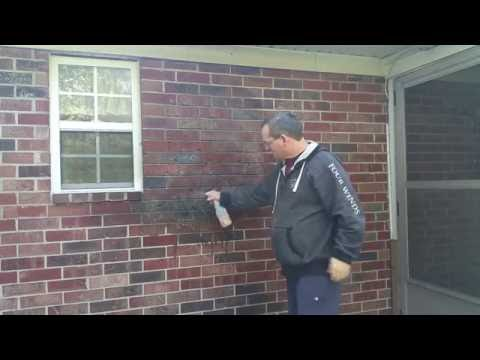 How to remove barbecue grill smoke from brick