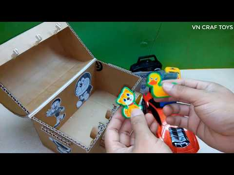 How to make DIY treasure chest with 3 digit password from cardboard