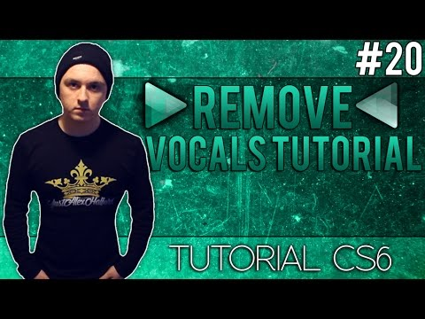 How To Remove Vocals From A Song In Adobe Audition CS6 - Tutorial #20