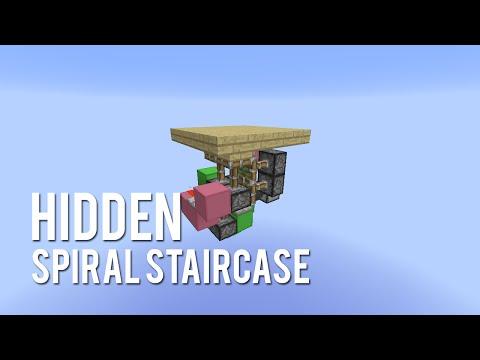 Redstone: Hidden Spiral Staircase [Tutorial]