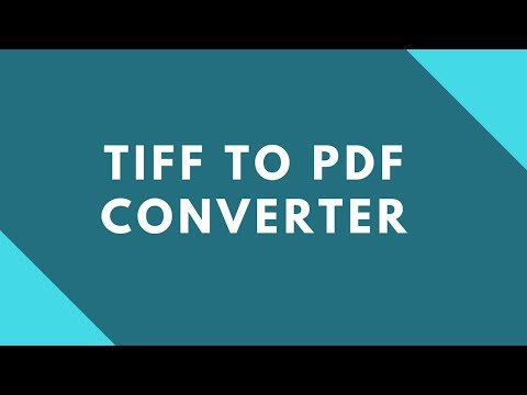 How to convert Tiff to Pdf ?