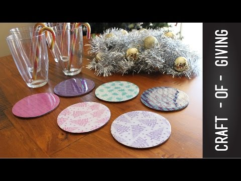 Easy and Affordable DIY Christmas Coasters | Craft of Giving