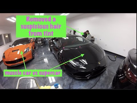 PISSED OFF.....Tint Place Cut My Lamborghini's Glass With a Blade