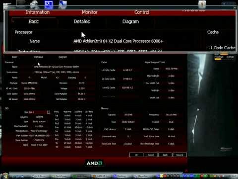 AMD Athlon 64 x2 6000+ Overclocked to 3.27GHz
