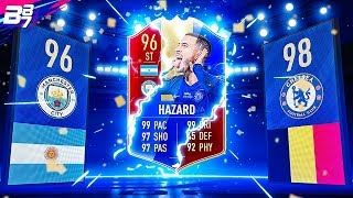INSANE FUT CHAMPIONS REWARDS AND TOTS PLAYER PICKS! TOTS HAZARD IN A PACK! | FIFA 19 ULTIMATE TEAM