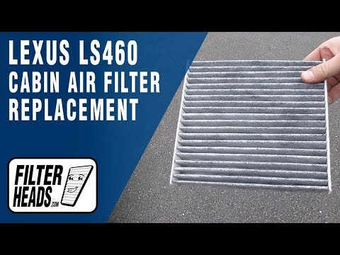 How to Replace Cabin Air Filter 2010 Lexus LS460