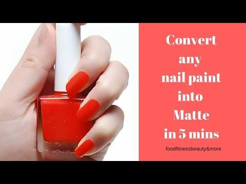 DIY Matte Nail Paint at home in 5 mins | Make any nail paint matte |