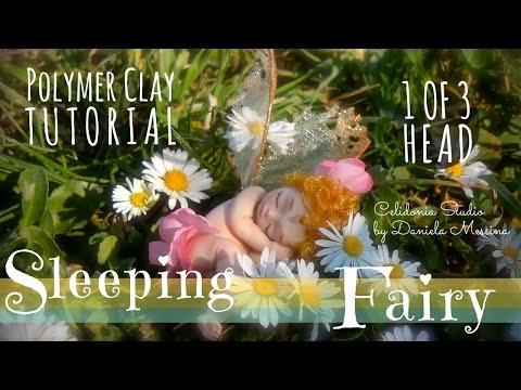 Sleeping Fairy - Polymer Clay Tutorial - Part 1 of 3 - Head