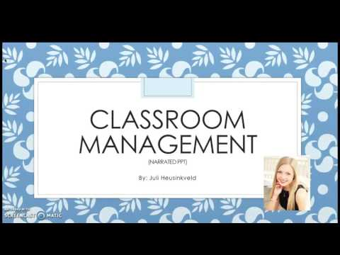 Classroom Management Narrated PowerPoint