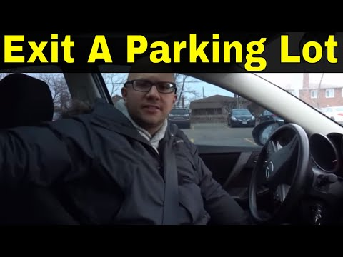 How To Exit A Parking Lot-Beginner Driving Lesson