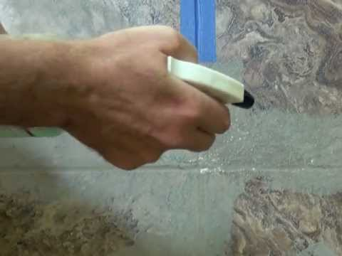 Easy Way to Grout Vinyl Tile